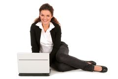 Businesswoman using laptop Royalty Free Stock Photos
