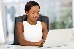 Businesswoman using laptop Stock Photography