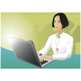 Businesswoman using laptop computer Royalty Free Stock Image