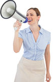 Businesswoman using megaphone Royalty Free Stock Image