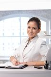 Businesswoman using personal organizer Royalty Free Stock Image
