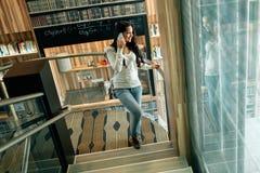 Businesswoman using phone Royalty Free Stock Photos