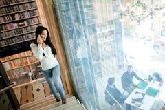 Businesswoman using phone Royalty Free Stock Image