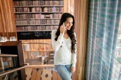 Businesswoman using phone Stock Image