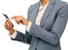 Businesswoman Using Smart Phone Stock Image