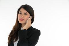 Businesswoman Using Smart Phone Royalty Free Stock Photos
