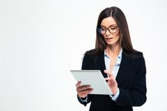 Businesswoman using tablet computer Royalty Free Stock Images