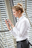 Businesswoman using tablet Stock Photos