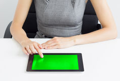 Businesswoman using tablet computer Stock Photos