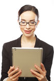 Businesswoman using tablet computer Royalty Free Stock Photo