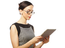 Businesswoman using tablet computer Stock Image
