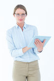 Businesswoman using tablet pc Royalty Free Stock Images