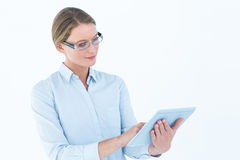 Businesswoman using tablet pc Stock Image