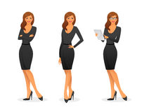 Businesswoman in various poses Stock Image