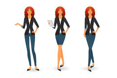 Businesswoman in various poses Royalty Free Stock Images