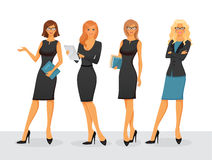 Businesswoman in various poses Royalty Free Stock Photo