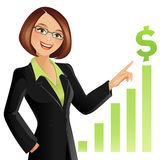 Businesswoman. Vector illustration of a successful businesswoman stock illustration