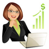 Businesswoman. Vector illustration of a successful businesswoman Stock Images