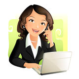 Businesswoman. Vector illustration of a young businesswoman vector illustration