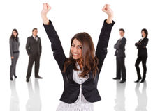 Businesswoman victory Royalty Free Stock Image