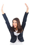 Businesswoman victory pose Royalty Free Stock Images