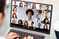 Free Businesswoman Video Conferencing With Laptop Stock Photos - 189277353