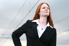 Businesswoman With Vision Stock Photo