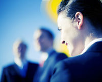 Businesswoman vision stock images