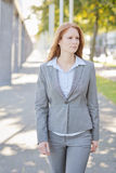 Businesswoman with a Vision in the City Royalty Free Stock Photos
