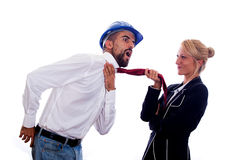 Businesswoman vs Businessman Royalty Free Stock Photography