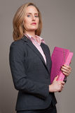 Businesswoman waist up Stock Photography