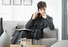 Businesswoman waiting Royalty Free Stock Photography