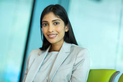 Businesswoman waiting airport Stock Photography