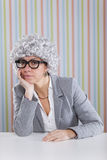 Businesswoman waiting Stock Images