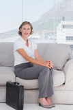 Businesswoman waiting in a waiting room Stock Photo