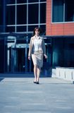 Businesswoman Walk Royalty Free Stock Photography