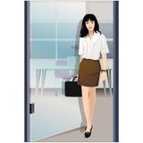 Businesswoman walking Stock Illustration