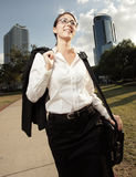 Businesswoman walking Royalty Free Stock Photos