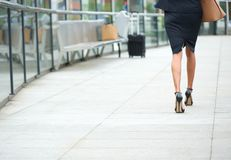 Businesswoman walking away Stock Photography