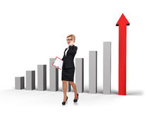 Businesswoman walking Stock Images