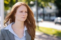 Businesswoman Walking in a City Royalty Free Stock Photos