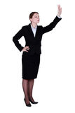 Businesswoman waving Royalty Free Stock Photos