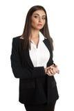 Businesswoman wearing black suit Royalty Free Stock Image