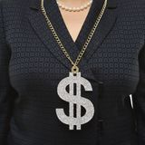 Businesswoman wearing dollar sign. Stock Photography