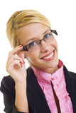 Businesswoman Wearing Glasses Royalty Free Stock Photos