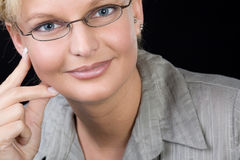 Businesswoman wearing glasses Stock Photography