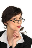 Businesswoman wearing glasses Royalty Free Stock Image