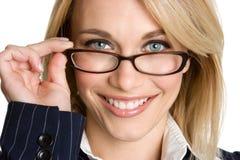 Businesswoman Wearing Glasses Stock Photos