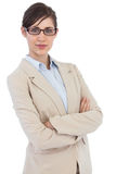 Businesswoman wearing glasses Royalty Free Stock Images