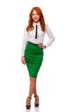 Businesswoman wearing green skirt Stock Image